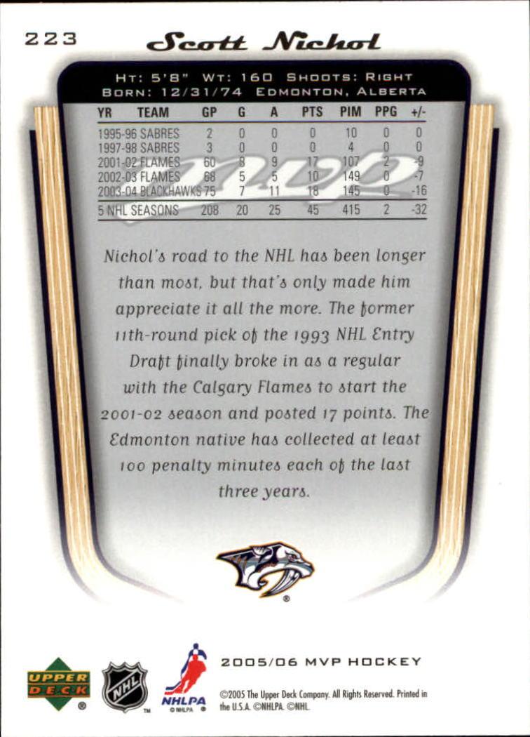 2005-06-Upper-Deck-MVP-Hockey-Card-Pick-1-250 thumbnail 416