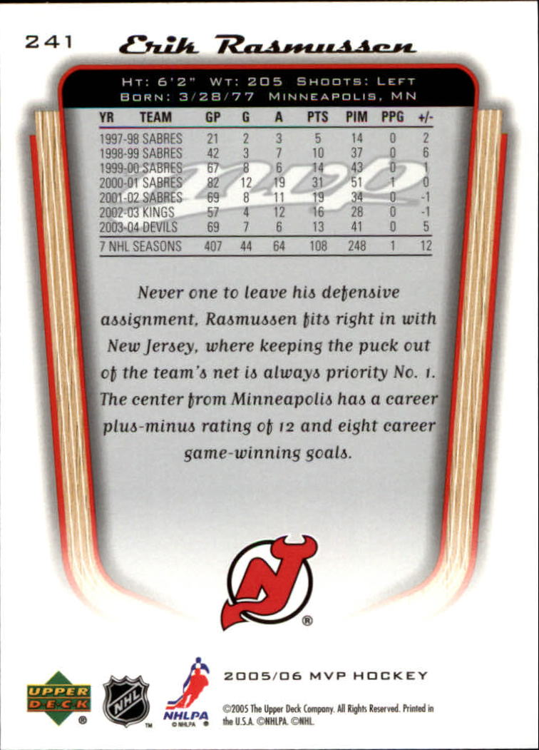2005-06-Upper-Deck-MVP-Hockey-Card-Pick-1-250 thumbnail 448