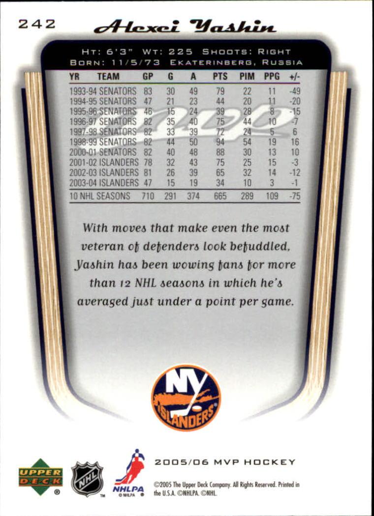 2005-06-Upper-Deck-MVP-Hockey-Card-Pick-1-250 thumbnail 450