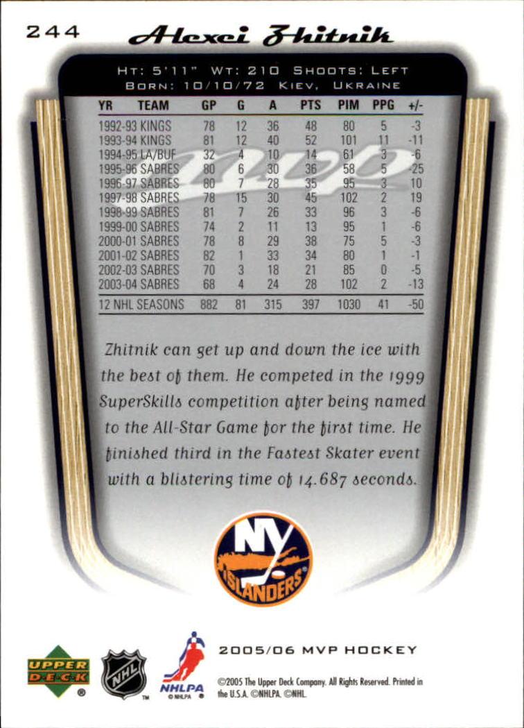2005-06-Upper-Deck-MVP-Hockey-Card-Pick-1-250 thumbnail 454