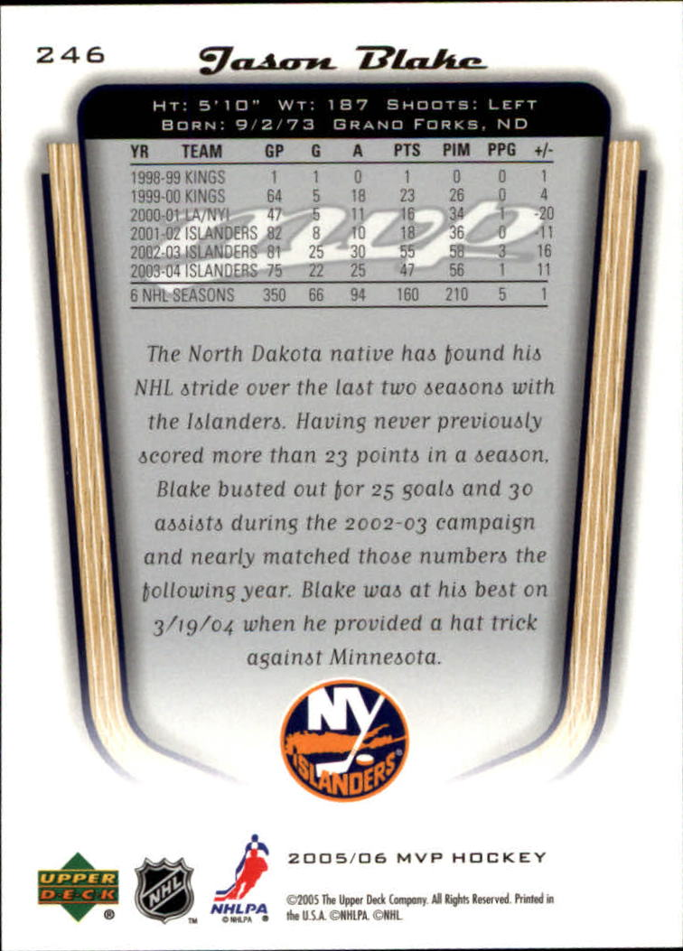 2005-06-Upper-Deck-MVP-Hockey-Card-Pick-1-250 thumbnail 458