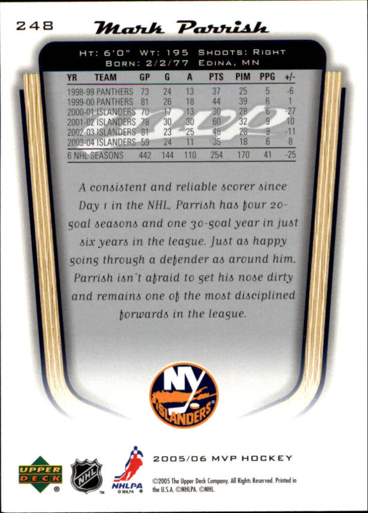 2005-06-Upper-Deck-MVP-Hockey-Card-Pick-1-250 thumbnail 462