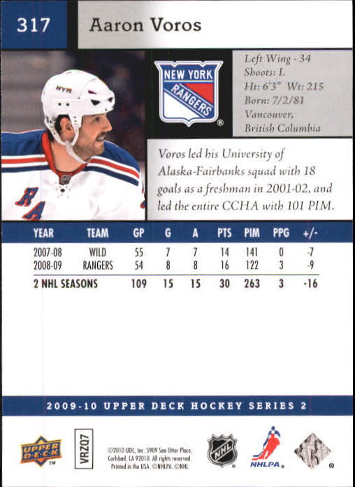 2009-10-Upper-Deck-Hk-Card-s-251-500-Rookies-U-Pick-Buy-10-cards-FREE-SHIP thumbnail 135