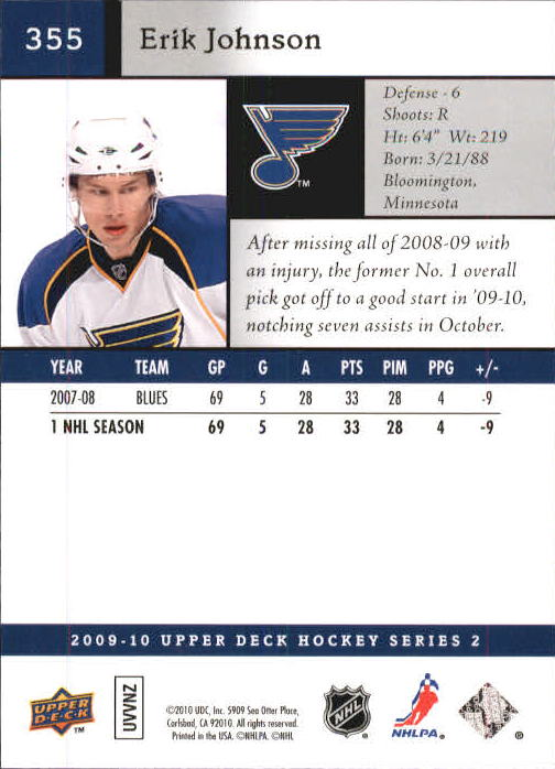 2009-10-Upper-Deck-Hk-Card-s-251-500-Rookies-U-Pick-Buy-10-cards-FREE-SHIP thumbnail 211