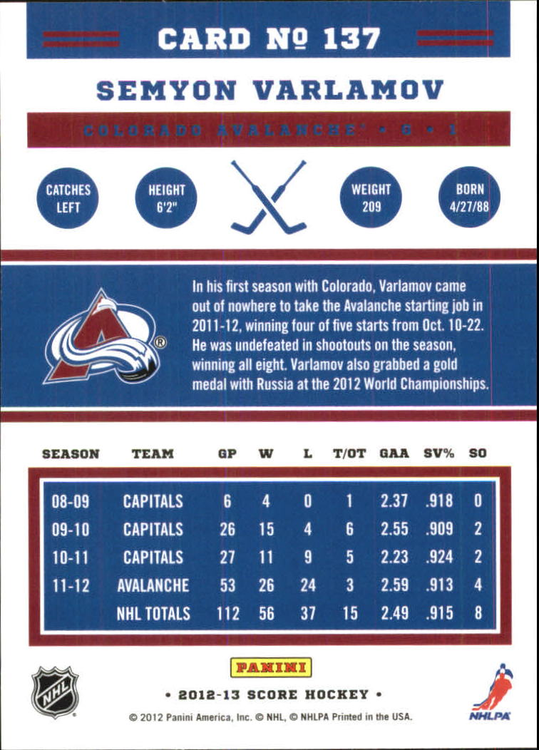 2012-13-Score-Gold-Rush-Parallel-Hockey-Cards-Huge-List-Combined-Shipping miniature 35