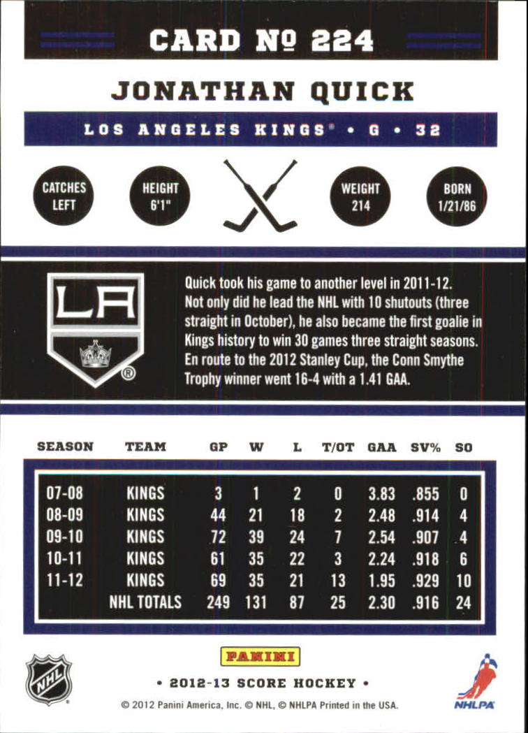 2012-13-Score-Gold-Rush-Parallel-Hockey-Cards-Huge-List-Combined-Shipping miniature 66
