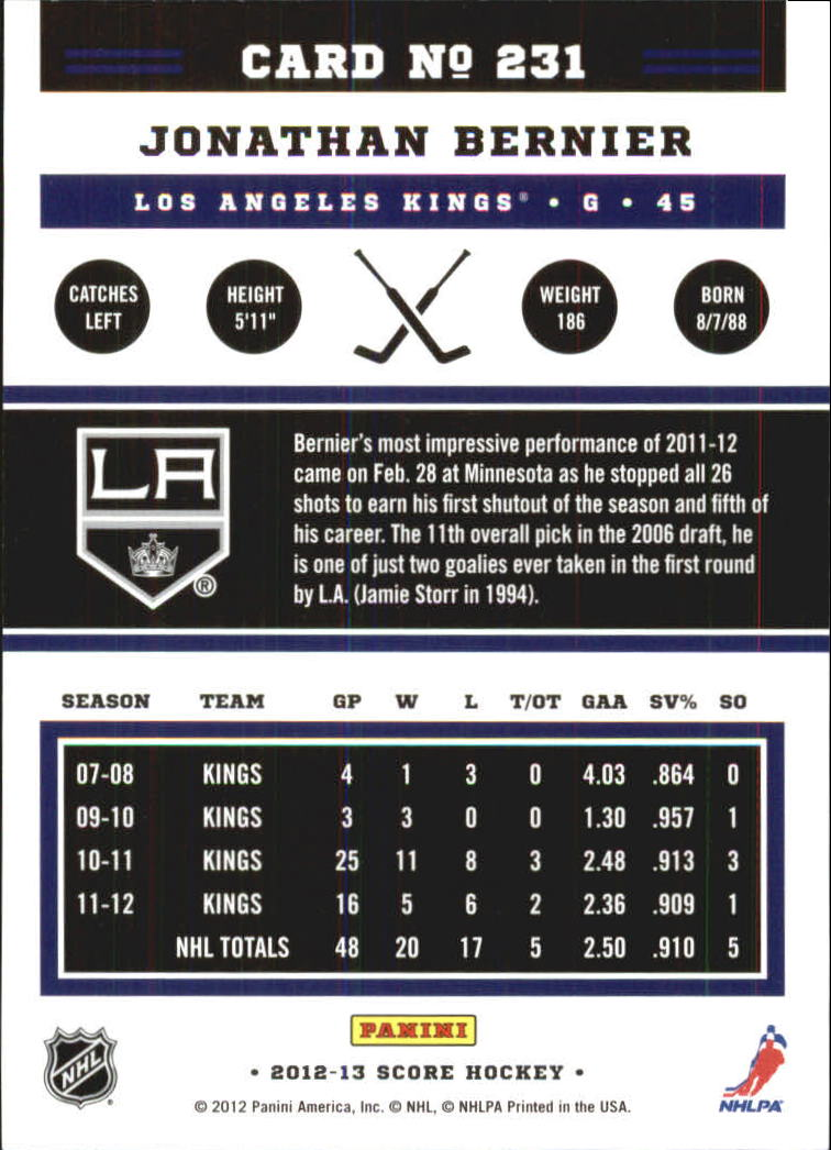 2012-13-Score-Gold-Rush-Parallel-Hockey-Cards-Huge-List-Combined-Shipping miniature 74