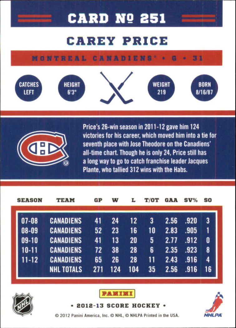 2012-13-Score-Gold-Rush-Parallel-Hockey-Cards-Huge-List-Combined-Shipping miniature 84