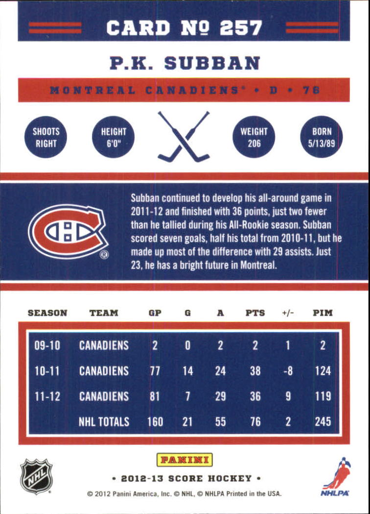 2012-13-Score-Gold-Rush-Parallel-Hockey-Cards-Huge-List-Combined-Shipping miniature 92