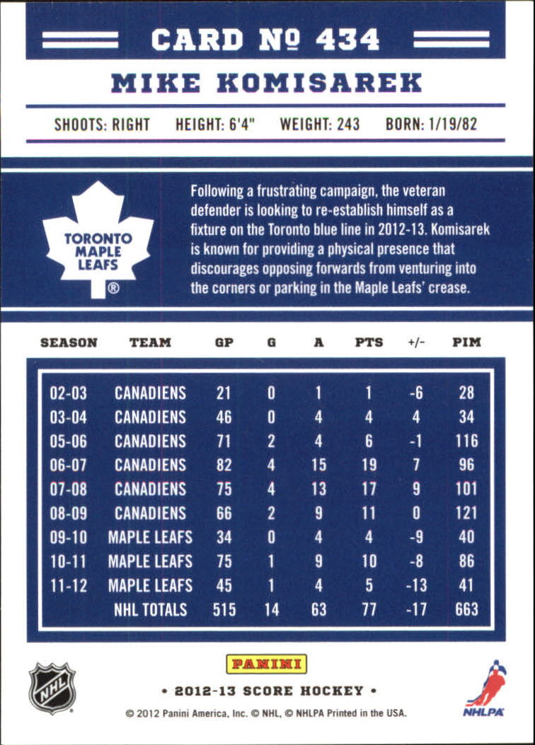 2012-13-Score-Gold-Rush-Parallel-Hockey-Cards-Huge-List-Combined-Shipping miniature 154