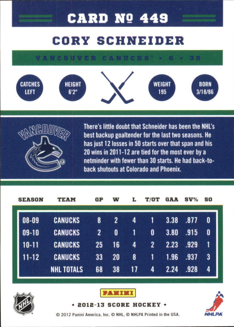 2012-13-Score-Gold-Rush-Parallel-Hockey-Cards-Huge-List-Combined-Shipping miniature 161