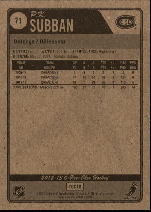 2012-13-O-Pee-Chee-Hockey-Card-039-s-1-200-You-Pick-Buy-10-cards-FREE-SHIP thumbnail 143