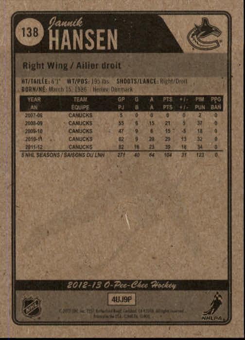 2012-13-O-Pee-Chee-Hockey-Card-039-s-1-200-You-Pick-Buy-10-cards-FREE-SHIP thumbnail 272