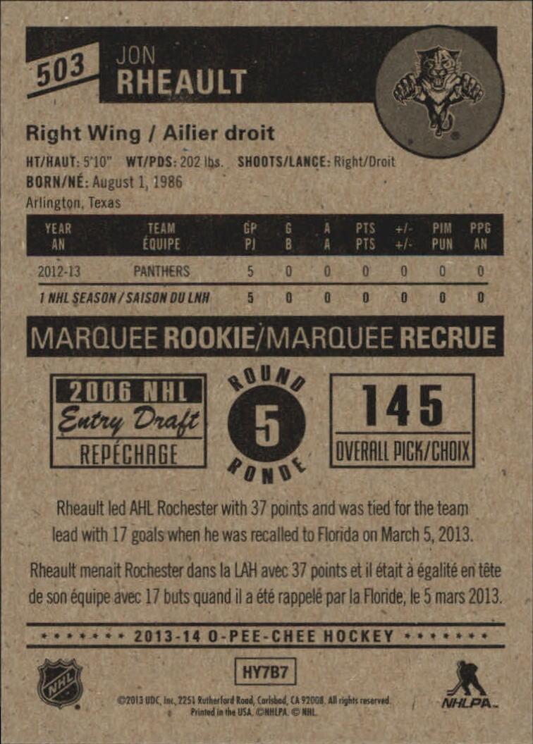 2013-14-Pee-O-Chee-Hk-base-501-642-Rookies-YOU-Pick-acquista-carte-10-SPEDIZIONE-GRATUITA miniatura 5