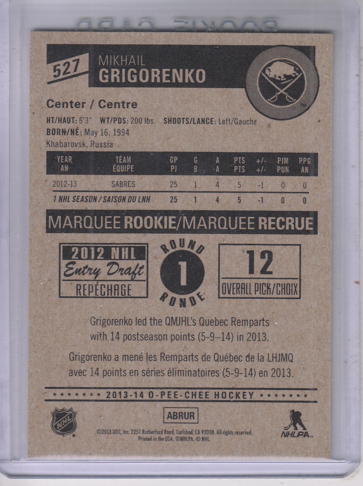 2013-14-Pee-O-Chee-Hk-base-501-642-Rookies-YOU-Pick-acquista-carte-10-SPEDIZIONE-GRATUITA miniatura 44