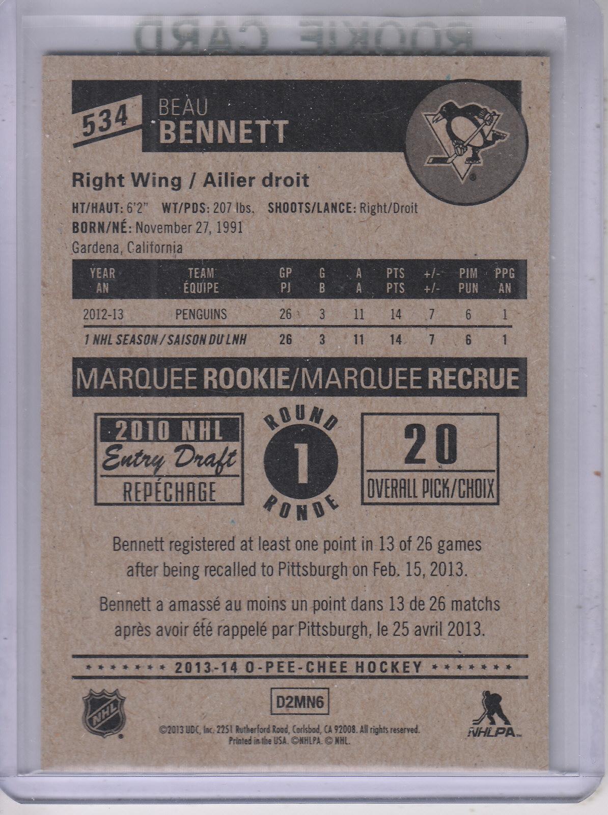2013-14-Pee-O-Chee-Hk-base-501-642-Rookies-YOU-Pick-acquista-carte-10-SPEDIZIONE-GRATUITA miniatura 52