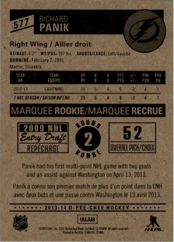 2013-14-Pee-O-Chee-Hk-base-501-642-Rookies-YOU-Pick-acquista-carte-10-SPEDIZIONE-GRATUITA miniatura 104