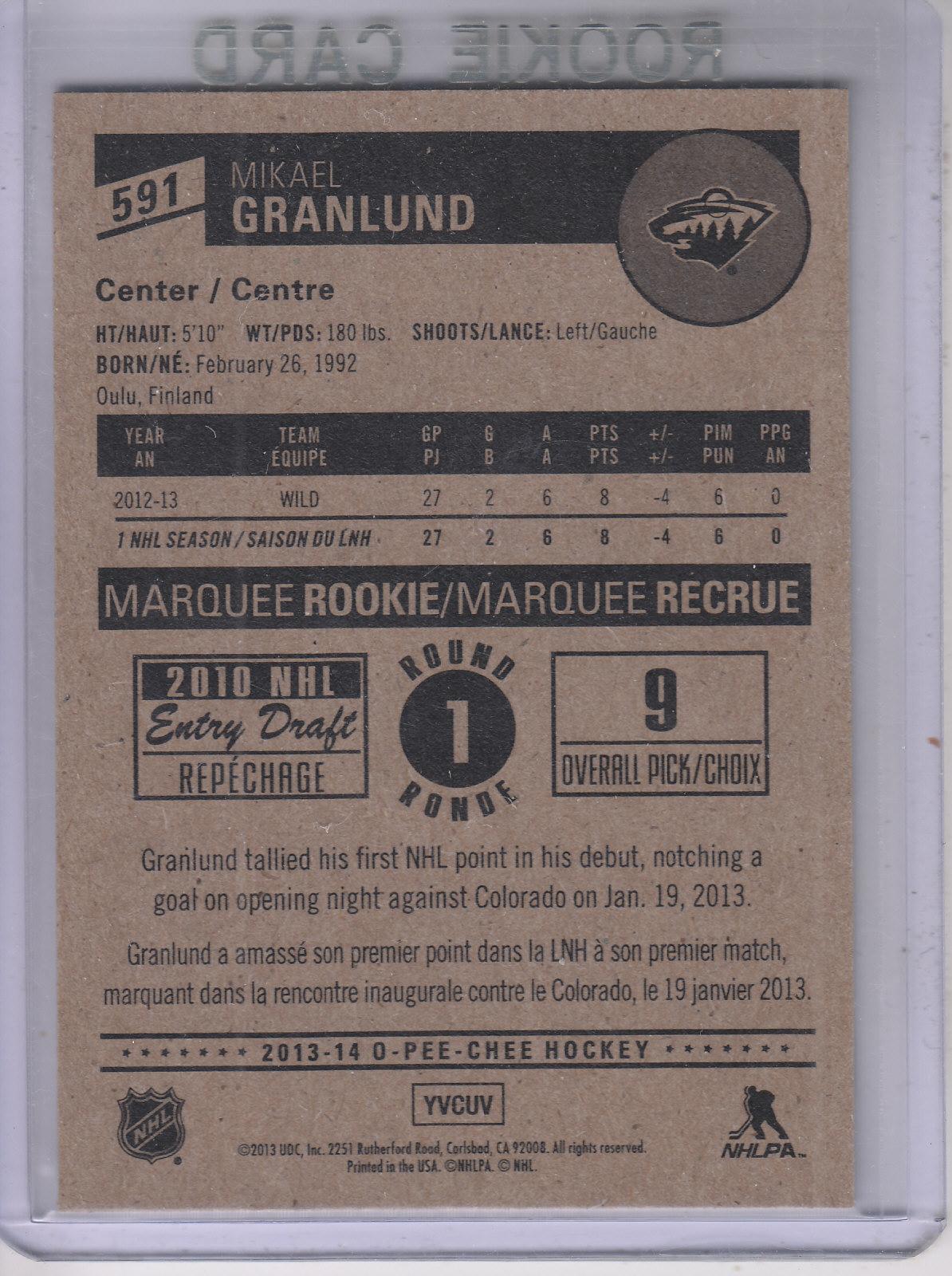 2013-14-Pee-O-Chee-Hk-base-501-642-Rookies-YOU-Pick-acquista-carte-10-SPEDIZIONE-GRATUITA miniatura 125