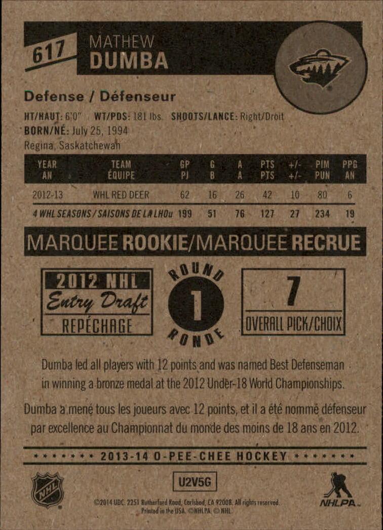 2013-14-Pee-O-Chee-Hk-base-501-642-Rookies-YOU-Pick-acquista-carte-10-SPEDIZIONE-GRATUITA miniatura 147