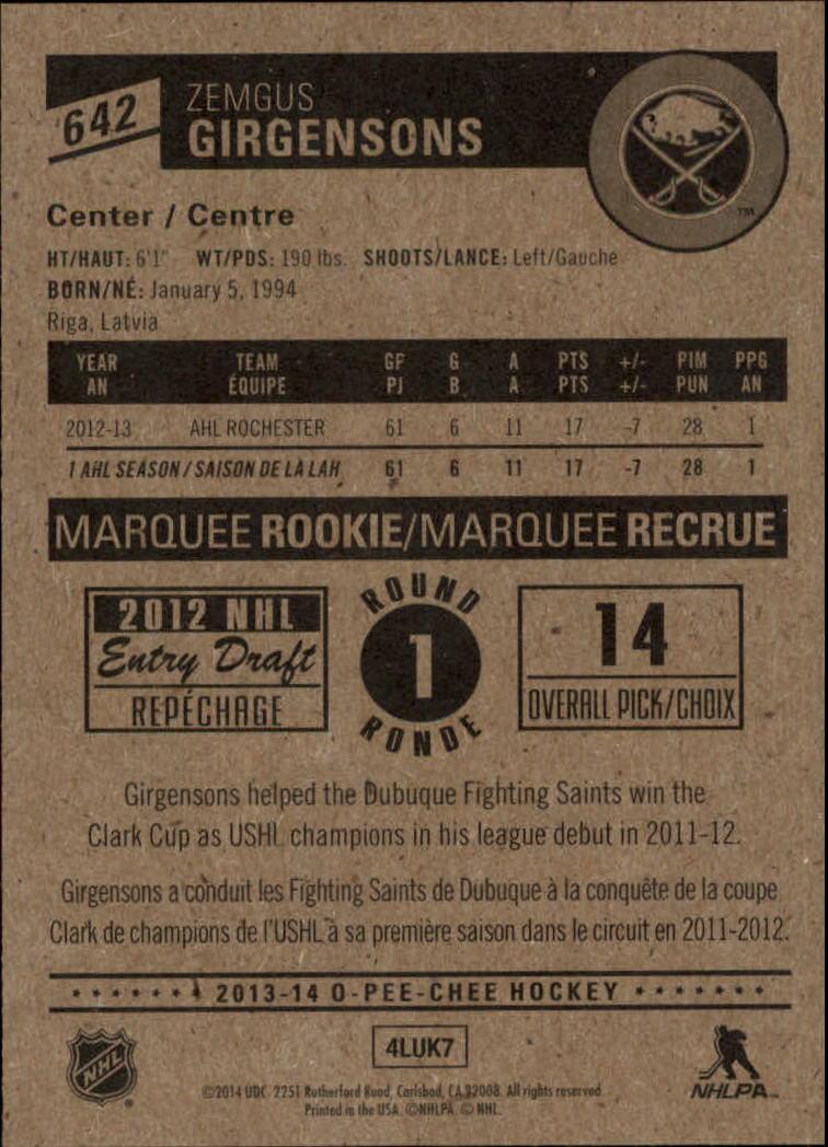 2013-14-Pee-O-Chee-Hk-base-501-642-Rookies-YOU-Pick-acquista-carte-10-SPEDIZIONE-GRATUITA miniatura 161