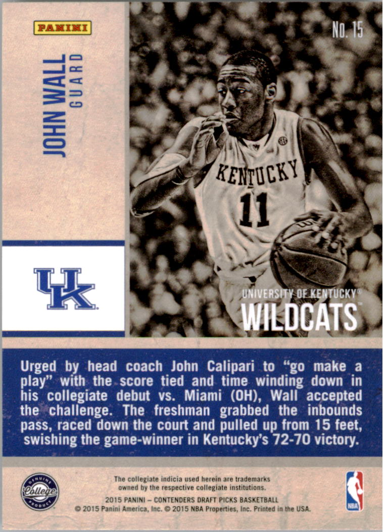 Details About 2015 16 Panini Contenders Draft Picks Old School Colors Basketball Card Pick