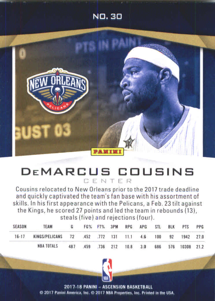 2017-18-Panini-Ascension-Basketball-Card-Pick thumbnail 59