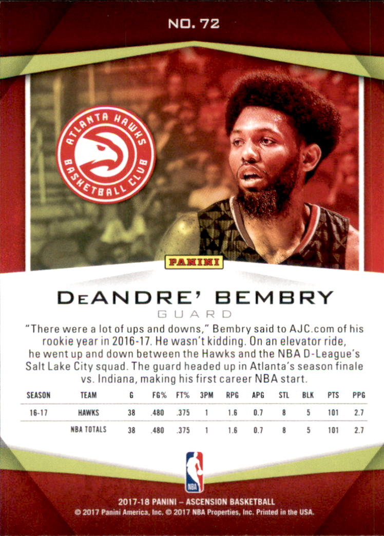 2017-18-Panini-Ascension-Basketball-Card-Pick thumbnail 143