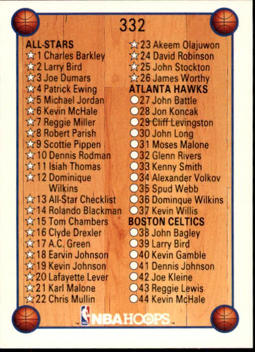 thumbnail 177 - 1990-91 Hoops Basketball Card Pick 244-440