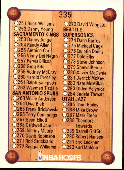 thumbnail 183 - 1990-91 Hoops Basketball Card Pick 244-440