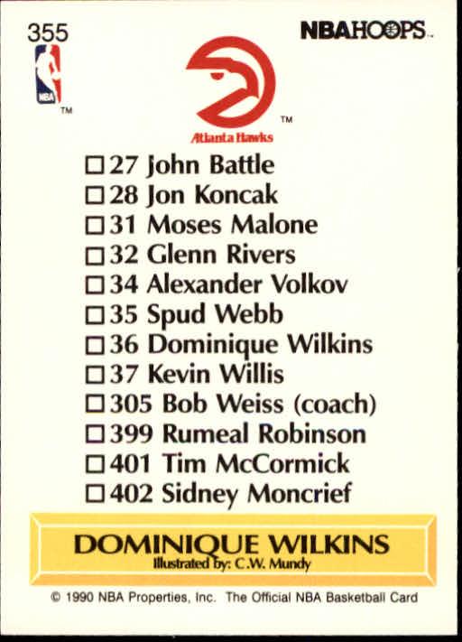 thumbnail 215 - 1990-91 Hoops Basketball Card Pick 244-440