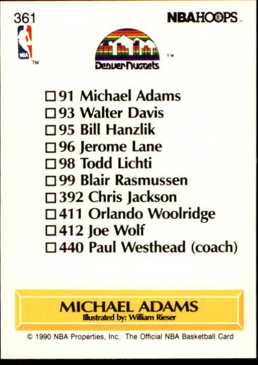 thumbnail 227 - 1990-91 Hoops Basketball Card Pick 244-440