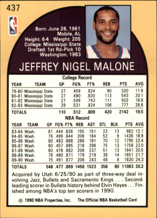 thumbnail 367 - 1990-91 Hoops Basketball Card Pick 244-440