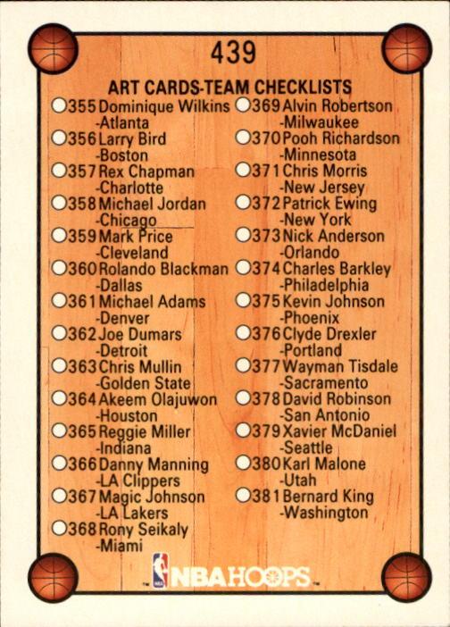 thumbnail 369 - 1990-91 Hoops Basketball Card Pick 244-440