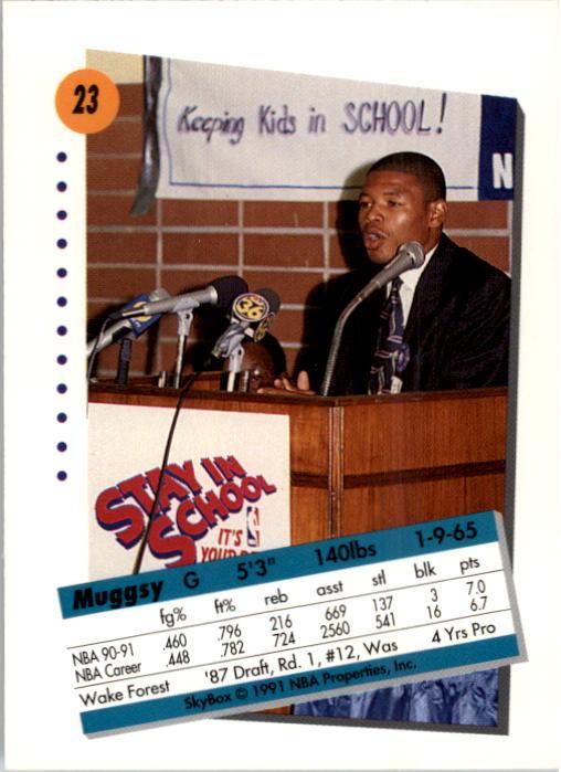 thumbnail 47 - 1991-92 SkyBox Basketball Card Pick 1-250