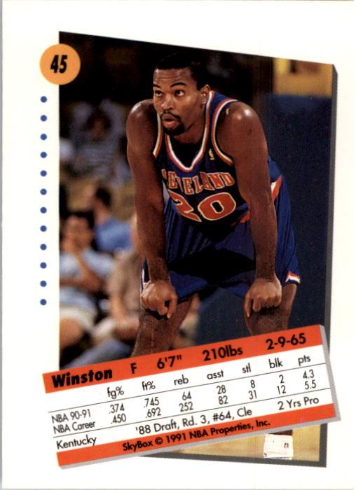 thumbnail 91 - 1991-92 SkyBox Basketball Card Pick 1-250
