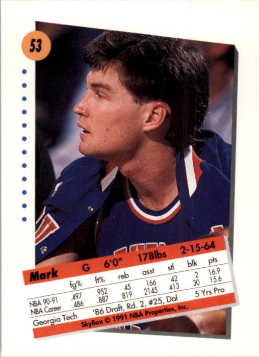 thumbnail 107 - 1991-92 SkyBox Basketball Card Pick 1-250