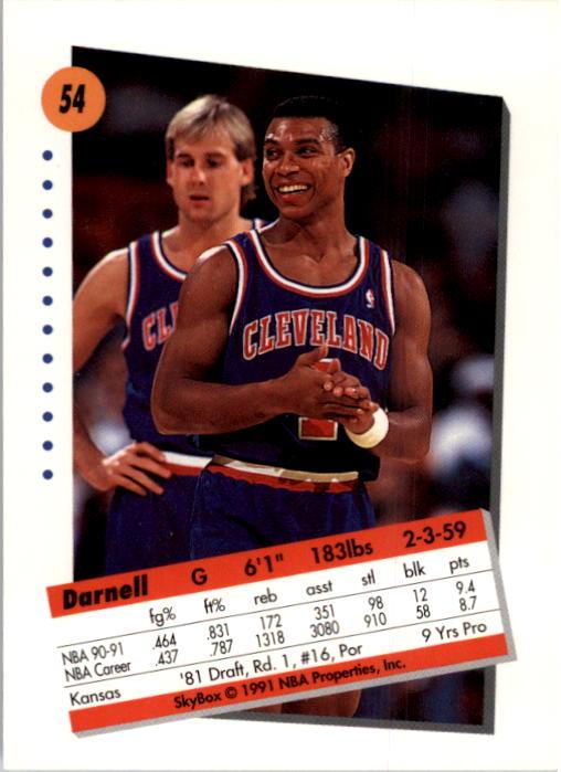 thumbnail 109 - 1991-92 SkyBox Basketball Card Pick 1-250