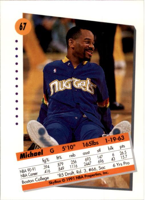 thumbnail 135 - 1991-92 SkyBox Basketball Card Pick 1-250