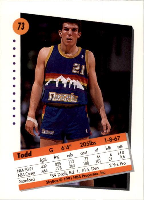 thumbnail 147 - 1991-92 SkyBox Basketball Card Pick 1-250