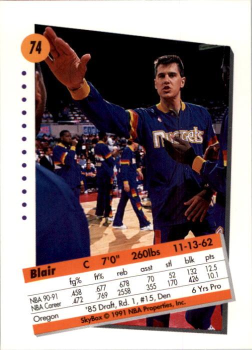 thumbnail 149 - 1991-92 SkyBox Basketball Card Pick 1-250