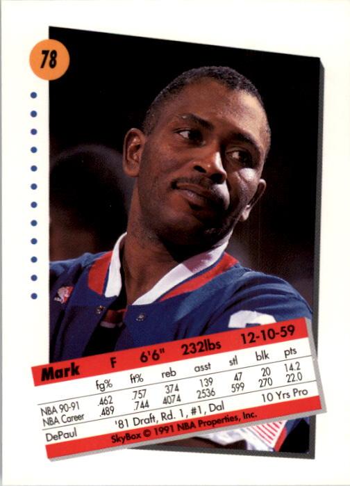 thumbnail 157 - 1991-92 SkyBox Basketball Card Pick 1-250