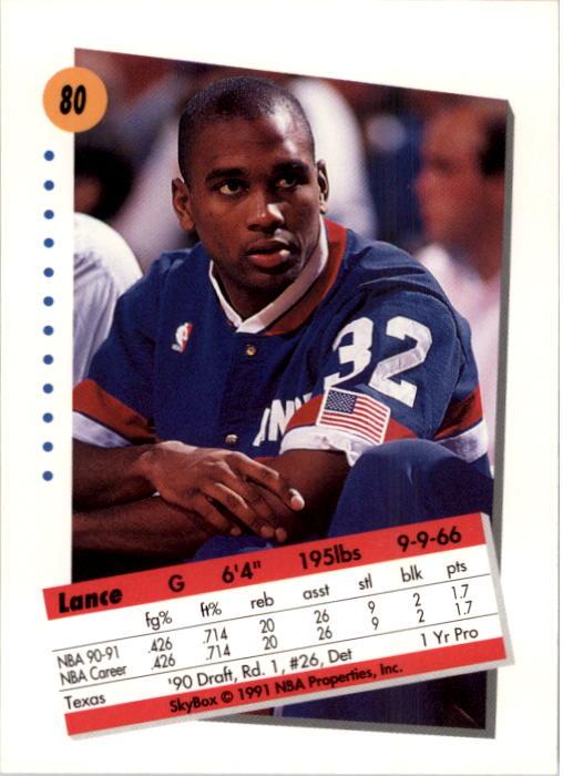 thumbnail 161 - 1991-92 SkyBox Basketball Card Pick 1-250