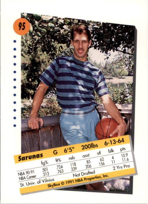 thumbnail 187 - 1991-92 SkyBox Basketball Card Pick 1-250