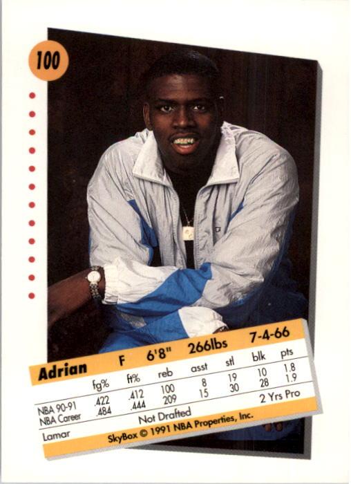 thumbnail 197 - 1991-92 SkyBox Basketball Card Pick 1-250