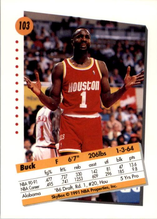 thumbnail 203 - 1991-92 SkyBox Basketball Card Pick 1-250