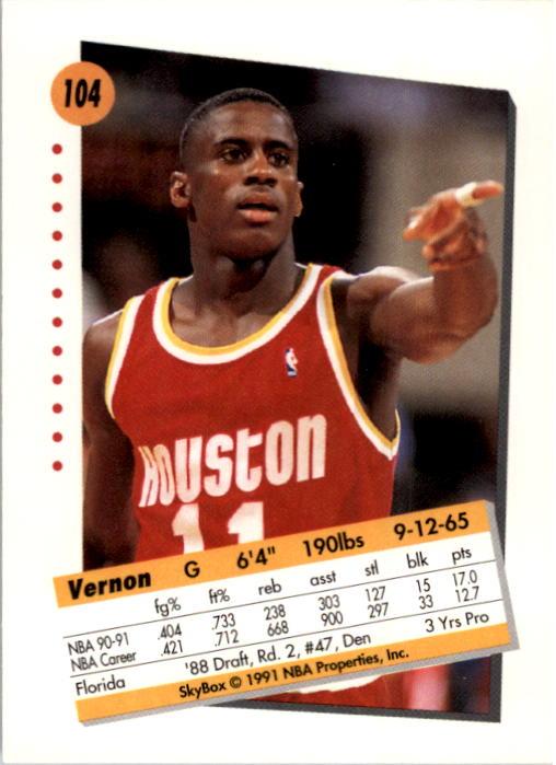 thumbnail 205 - 1991-92 SkyBox Basketball Card Pick 1-250