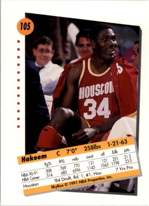 thumbnail 207 - 1991-92 SkyBox Basketball Card Pick 1-250