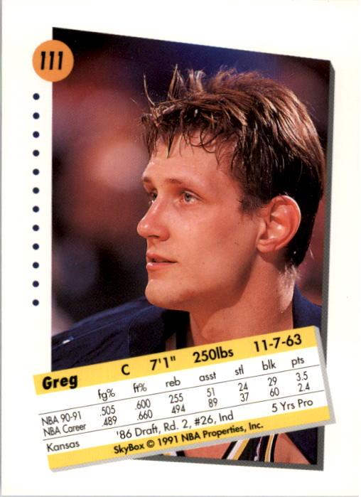 thumbnail 219 - 1991-92 SkyBox Basketball Card Pick 1-250