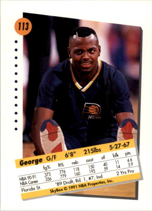 thumbnail 223 - 1991-92 SkyBox Basketball Card Pick 1-250