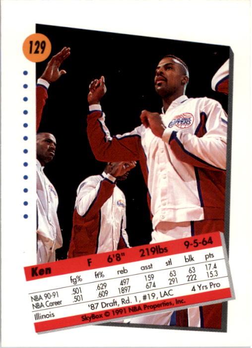 thumbnail 255 - 1991-92 SkyBox Basketball Card Pick 1-250